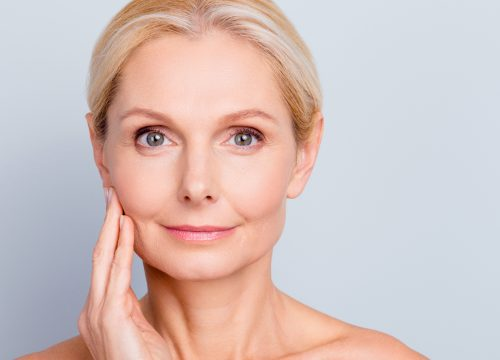 Older woman with great skin after LightStim® treatments